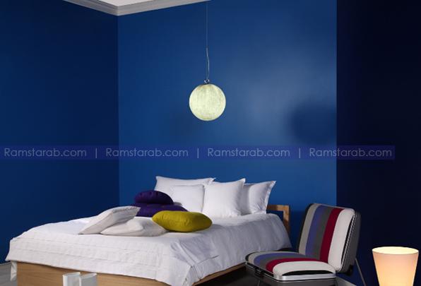 الوان حوائط زرقاء