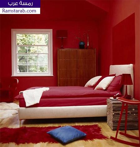 الوان حوائط احمر نبيتي