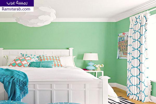 الوان حوائط اخضر جميلة