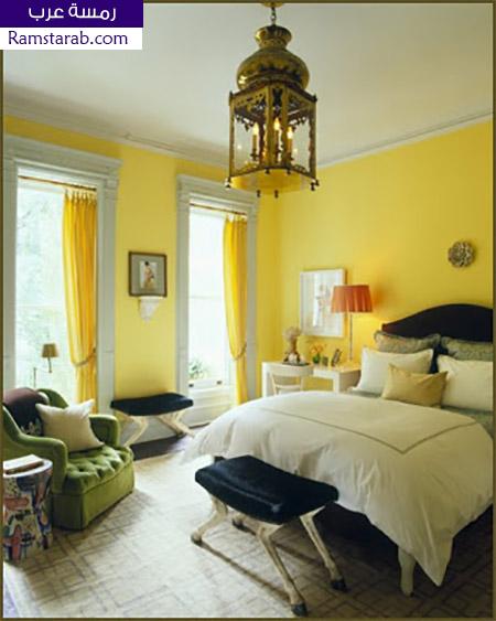 الوان حوائط صفراء