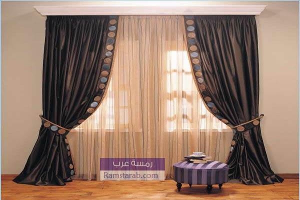 صورة ستارة مودرن لغرفة المعيشة