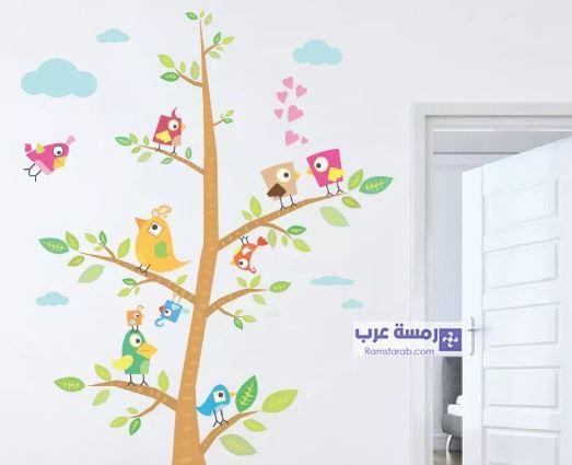 اشكال حوائط غرف اطفال