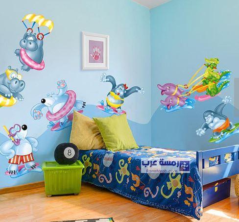 ديكورات ورسومات حوائط غرف اطفال رمسة عرب