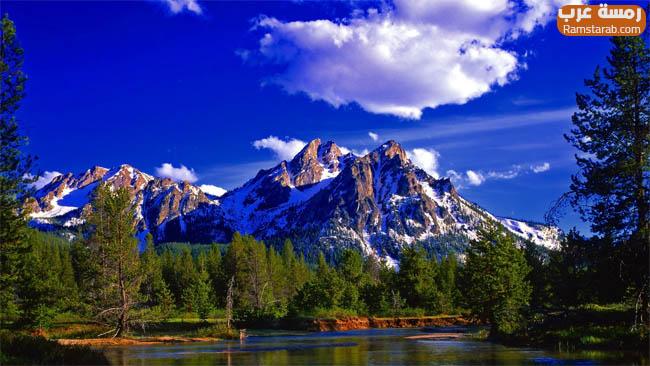 خلفيات جبال وسحب