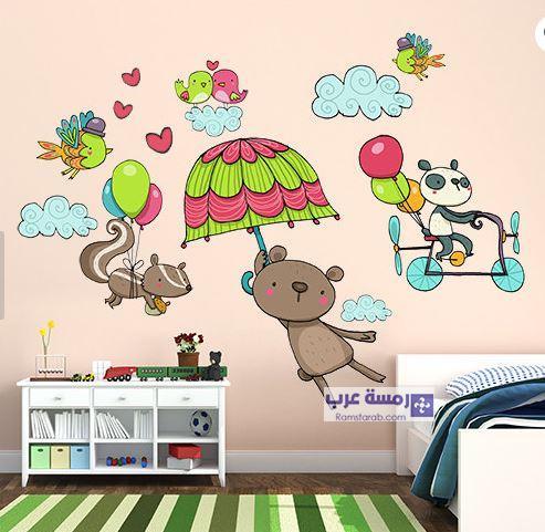 رسومات حوائط غرف اطفال 2018