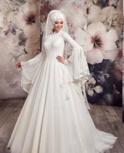 فساتين زفاف محجبات 26