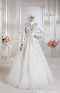 فساتين زفاف محجبات18