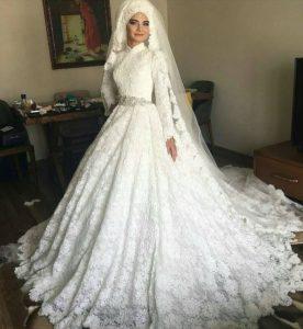 فساتين زفاف محجبات24
