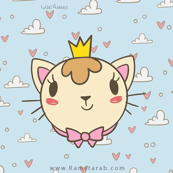 رسمة قطة للاطفال