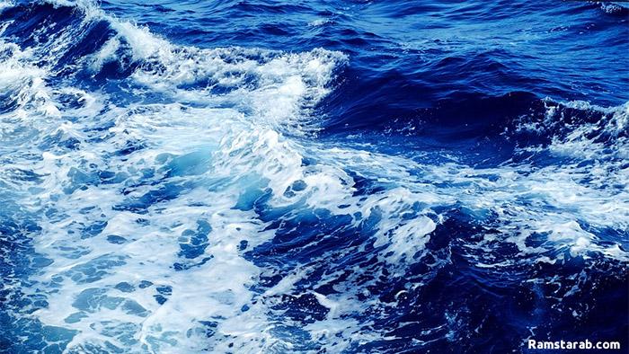 خلفية بحر ازرق