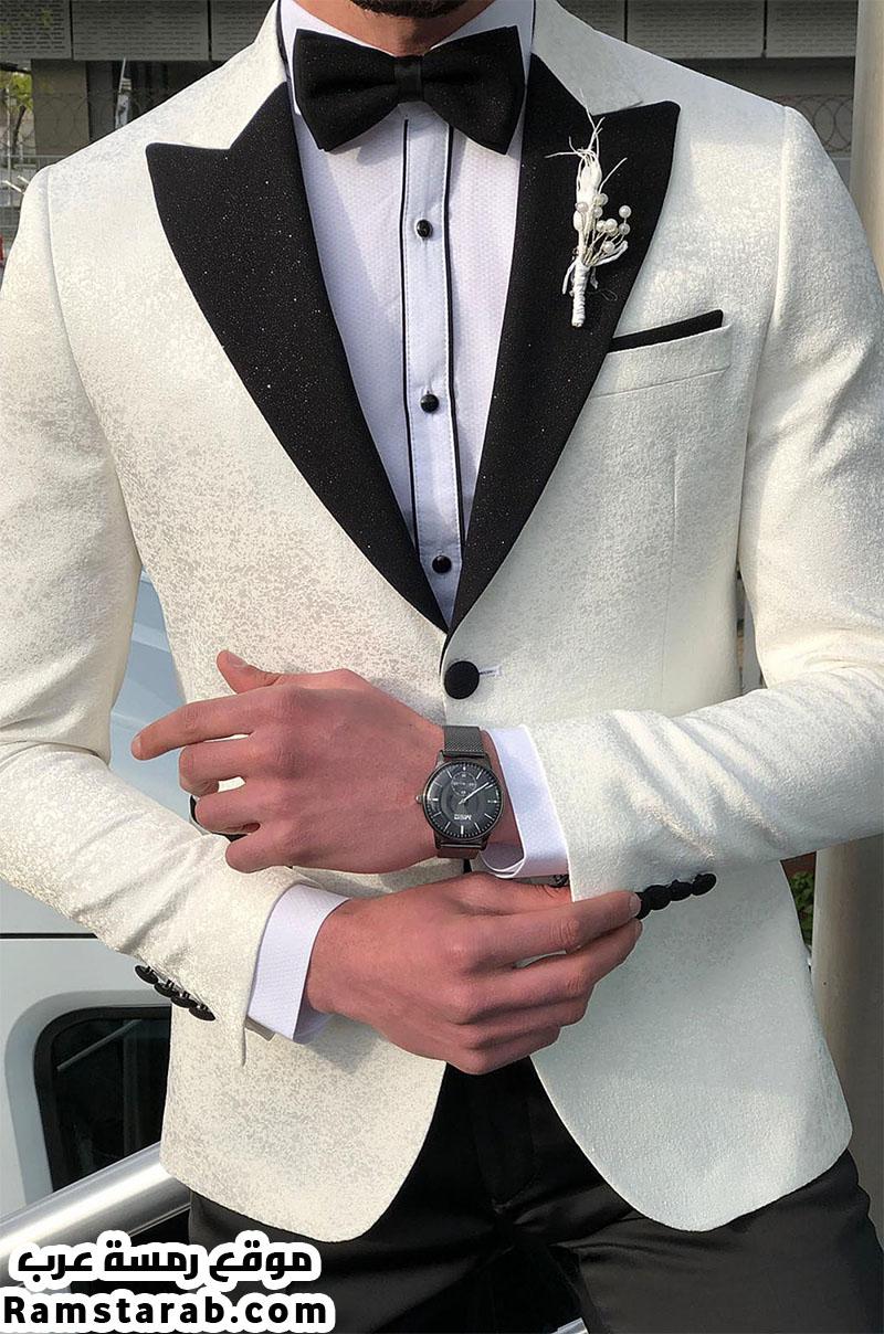 بدلة زفاف بيضاء
