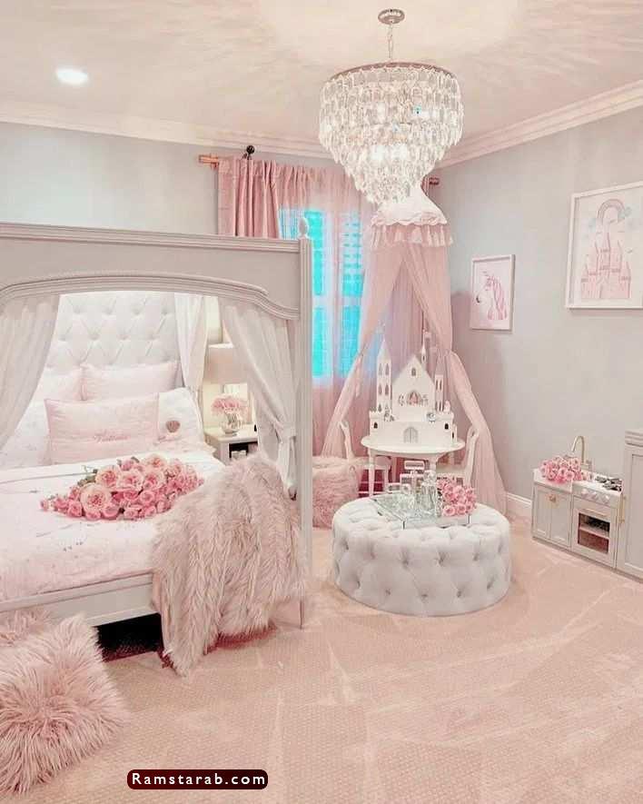 غرف نوم بنات 7